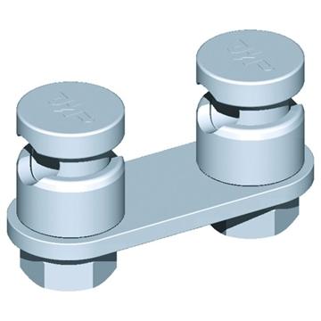 Εικόνα της Διπλός σφικτήρας στρογγυλού αγωγού Φ6-10 St/tZn - Al