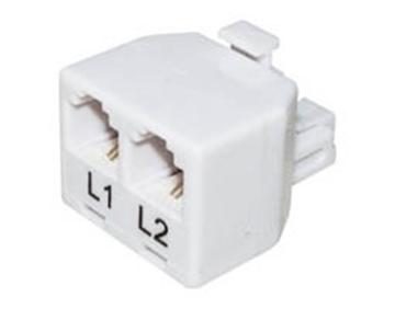 Εικόνα της Τηλεφωνiko Adaptor Αρσενικο/Τηλeφωνικες Γραμμες 6P2C X2 T201-02 (303) Lnc