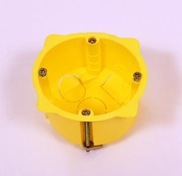 Εικόνα της Κουτιά Εγκατάστασης Διακοπτών Γυψοσανίδας Μονό 65Χ45 Κίτρινο 08-21040-001 Courbi
