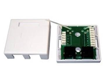 Εικόνα της Πριζα Δικτυου Διπλη Cat5E  Τηλεφωνου Combo N122-05 Lancom