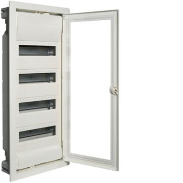 Εικόνα της Volta Πίνακας Χωνευτός 4X12M Διαφανή Πόρτα Hager