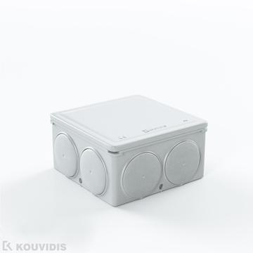 Εικόνα της Στεγανο Τετραγωνο Κουτι Διακ/Σεως Medisol Αμ Φ20/16 Λευκο Ral 90
