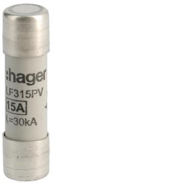 Εικόνα της Φυσίγγι 10X38mm 1000V DC 15A Hager LF315PV