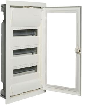 Εικόνα της Volta Πίνακας Χωνευτός 3X12M Διαφανή Πόρτα Hager