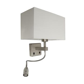 Εικόνα της Απλικα E27 +Led Παραληλλογραμμη Λευκη 30X20X56 Vk/04034/Mc/W VK Lighting 64171-029171