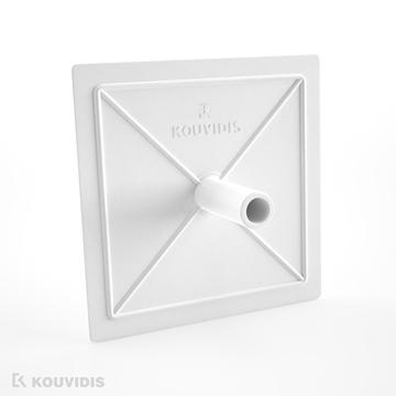 Εικόνα της Καπακι Τετραγωνο 7.5X7.5 Καπακι Λευκο