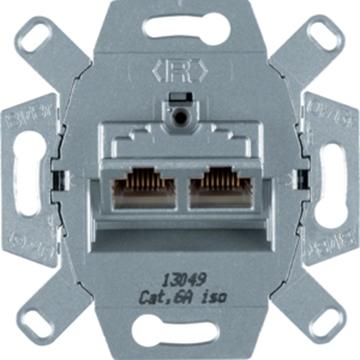 Εικόνα της Berker Πρίζα Rj45 Διπλή Stp Cat 6A (500Mhz) Hager