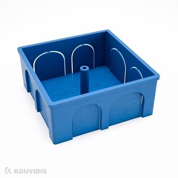 Εικόνα της Κουτι Διακ/Σεως Τετραγωνο 7,5 Χ 7,5 Κουτι Μπλε Ral 5019
