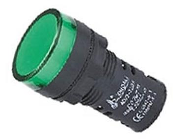 Εικόνα της Ενδεικτικη Λυχνια Βιδωτη Φ22 Χωρις Καλωδιο + Led 220Vac Πρασινη Ad22-22Ds Xnd