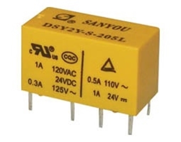 Εικόνα της Relay Subminiature 2P 12V Dc 1A Dsy2Y G/San