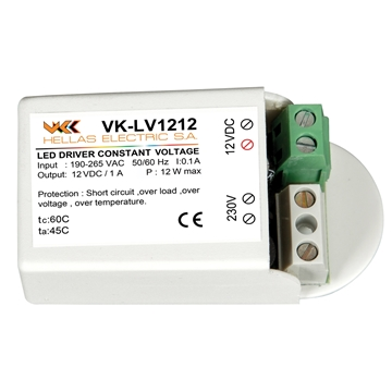 Εικόνα της VK-LV1212 LED DRIVER 12V 12W M/S