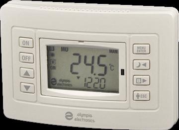 Εικόνα της Bs-812 Προγραμματιζόμενος Θερμοστάτης Χώρου Με Δύο Μπαταρίες ΑΑ