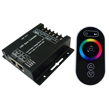 Εικόνα της CONTROLLER RGB ΑΦΗΣ 18Α ΓΙΑ ΤΑΙΝΙΑ LED RGB 12/24V LUCAS RGBCONTXL