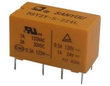 Εικόνα της RELAY SUBMINIATURE 2P 24V DC 1A DSY2Y G/SAN
