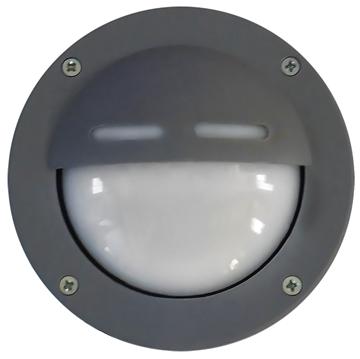 Εικόνα της Φωτιστικό Μονόφωτο Χελώνα Εξωτερικού Χώρου Πλαστικό Γκρί IP44 Gx53 LED Slp-10D 13-0064 Heronia