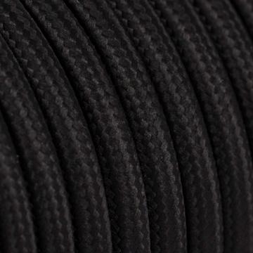 Εικόνα της Καλώδιο Υφασμάτινο 2Χ0.75mm² Μαύρο Στρογγυλό