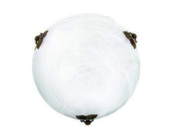 Εικόνα της Φωτιστικό Πλαφονιέρα D400 E27 2x42W Λευκή Flora Viokef