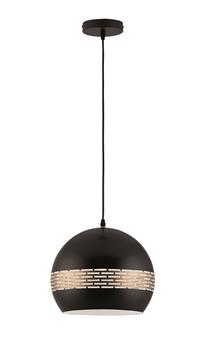 Εικόνα της Kρεμαστό Μονόφωτο Φωτιστικό Μαύρο E27 60W Estelle 4166000 Viokef
