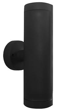 Εικόνα της Φωτιστικό Δίφωτο Σπότ Up-Down GU10 LED Πλαστικό Μαύρο C-02 15-0036 Heronia