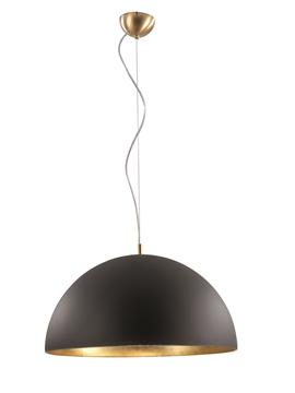 Εικόνα της Φωτιστικό Κρεμαστό Μονόφωτο Μαύρο/Χρυσό E27 70W Dome Viokef