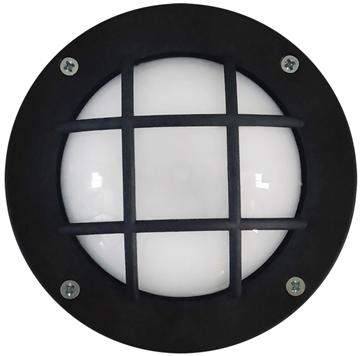 Εικόνα της Φωτιστικό Μονόφωτο Χελώνα Εξωτερικού Χώρου Με Πλέγμα Πλαστικό Μαύρο IP44-GX-53 Slp-10Β 13-0072 Heronia
