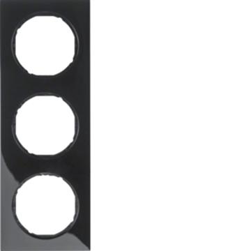 Εικόνα της Berker Πλαίσιο 3Θ. Μαύρο R.3 Hager