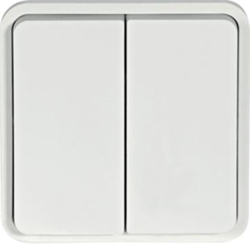 Εικόνα της Cubyko A/R Διπλός IP55 Λευκό Hager