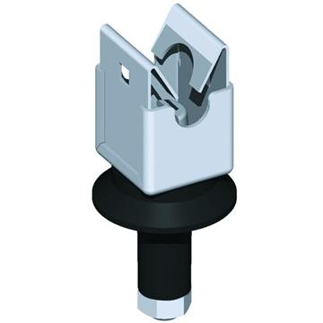 Εικόνα της Στεγανό στήριγμα αγωγού Φ 8-9 Ιnox τύπου niro-clip