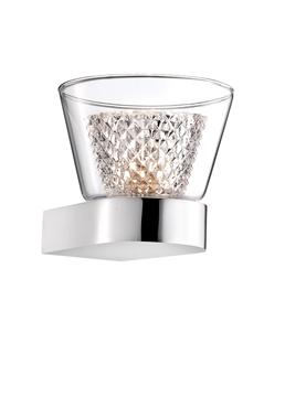 Εικόνα της Chrome Aluminium  Clear Glass G9 1x33 Watt IP20 Bulb Included D 12 W 12.6 H 10.3 cm
