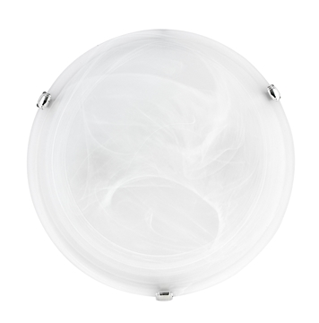 Εικόνα της Ceiling Light Alabaster Glass Chrome Metal E27 1x60W D H