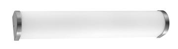 Εικόνα της Opal Glass  Satin Nickel   E14 2x40 Watt 230 Volt IP44 Bulb Excl