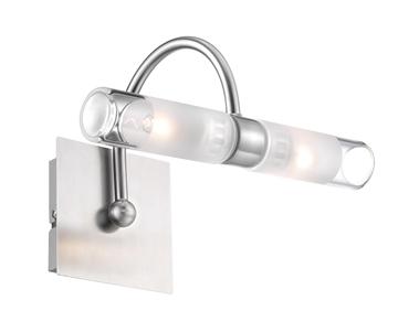 Εικόνα της Clear Glass Satin Nickel Metal G9 2x40 Watt 230 Volt IP44 Bulb E