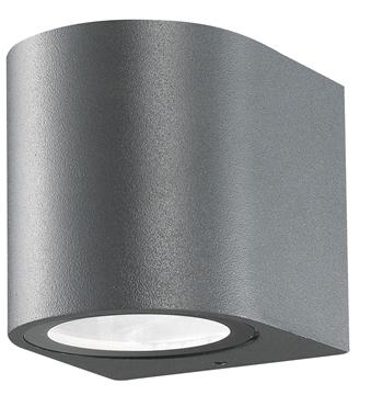 Εικόνα της Dark Gray Aluminium  Glass Diffuser GU10 1x35 Watt D 7 W 8 H 8 cm IP54