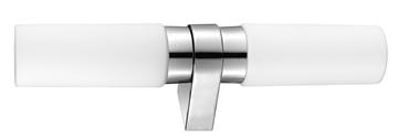 Εικόνα της White Opal Glass Chrome Aluminium E14 2x40W IP44 Bulb Excluded L