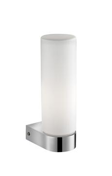 Εικόνα της White Opal Glass Chrome Aluminium E14 1x40W Bulb Excluded IP44 L
