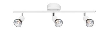 Εικόνα της Matt White Metal GU10 3x50 Watt IP20 Bulb Excluded L 49 W 8 H 10.9 cm