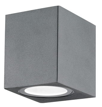 Εικόνα της Dark Gray Aluminium  Glass Diffuser GU10 1x35 Watt L 6.7 W 8 H 8 cm IP54