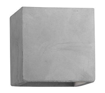 Εικόνα της Gray Concrete G9 1x6 Watt L 11.5 W 11.5 H 11.5 cm