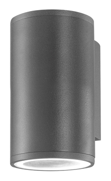 Εικόνα της Dark Gray Aluminium  Glass Diffuser GU10 1x35 Watt D 6.5 W 10.4 H 11 cm IP54