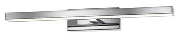 Εικόνα της Chrome Aluminium  Acrylic LED 12W 874Lm 3000K IP44 L 49 W1 3 W2 9 H 6.5 cm