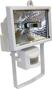Εικόνα της Προβολέας Ιωδίνης Στεγανός 500W + Sensor Λευκ