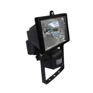 Εικόνα της Προβολέας Ιωδίνης Στεγανός 150W + Sensor Μαύρος