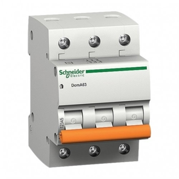 Εικόνα της Μικροαυτόματη Ασφάλεια Domae 3P 10A C 3kA Schneider