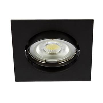 Εικόνα της Spot Αλουμίνιου Κινητό Τετράγωνο 12V Φ68 Μαύρο
