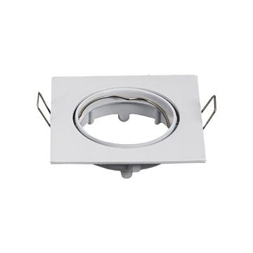 Εικόνα της Spot Αλουμίνιου Κινητό Τετράγωνο 12V Φ68 Λευκό