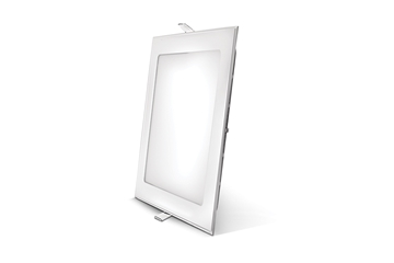 Εικόνα της Panel led 12w τετράγωνο 6400Κ  χωνευτό 155X155mm Lambario