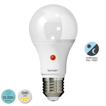 Εικόνα της ΛΑΜΠΑ LED E27 A60 10WATT 6000K DAY NIGHT IP20