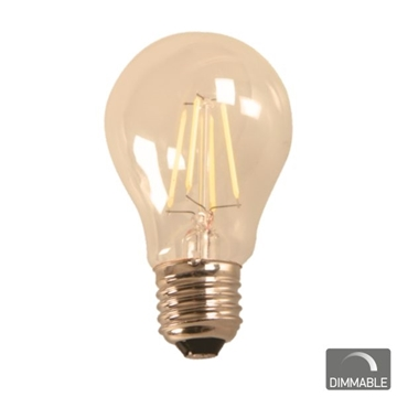 Εικόνα της ΛΑΜΠΑ LED E27 A60 7WATT FILAMENT 2200K 2200W.W DIMMABLE