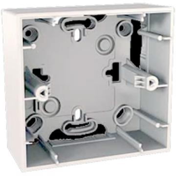 Εικόνα της Unica Colors κουτί επίτοιχο 1 θέσης Λευκό