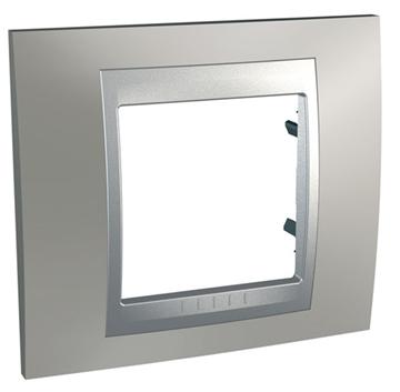 Εικόνα της Unica Top Metal πλαίσιο 1 θέσης Nickel Matt/Αλουμίνιο